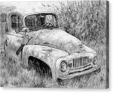 Vehicle Study No 1 Canvas Print by David King