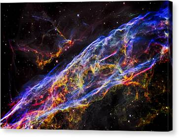 Astronomy Canvas Print - Veil Nebula - Rainbow Supernova  by Jennifer Rondinelli Reilly - Fine Art Photography
