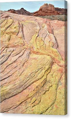 Canvas Print featuring the photograph Veins Of Gold In Valley Of Fire by Ray Mathis
