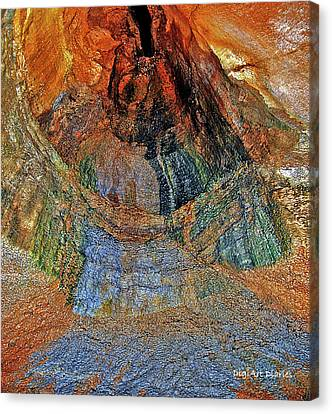 Veins Of The Earth Canvas Print by DigiArt Diaries by Vicky B Fuller