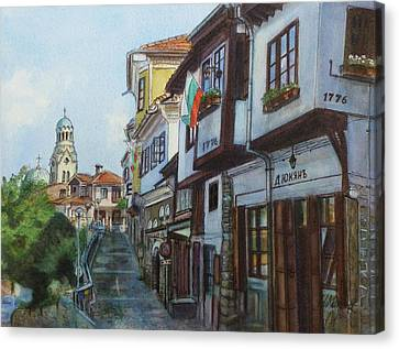 Veliko Tarnovo- Nativity Of The Mother Of God Cathedral Canvas Print by Henrieta Maneva