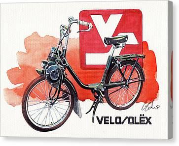 Velo Solex Canvas Print by Yoshiharu Miyakawa