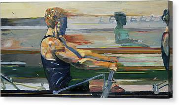 Row Boat Canvas Print - Velocity by Revere La Noue