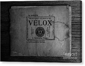 Velox Developing Paper Antique Paper Canvas Print