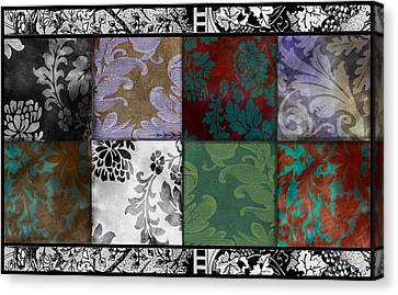 Tapestries - Textiles Canvas Print - Velvet And Damask Tapestry by Mindy Sommers