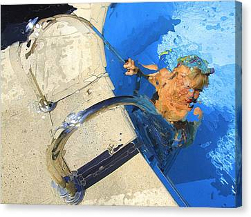 Canvas Print featuring the photograph Vence Pool by Richard Wiggins