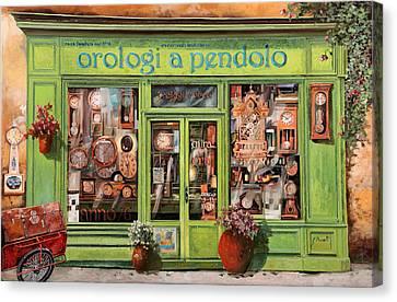 Vendita Di Orologi A Dondolo Canvas Print