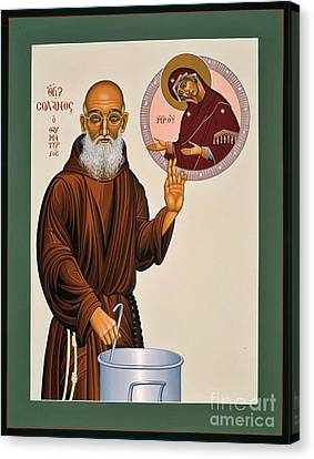 Canvas Print featuring the painting Venerable Fr. Solanus Casey The Healer 038 by William Hart McNichols