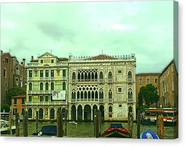 Canvas Print featuring the photograph Venetian Aternoon by Anne Kotan