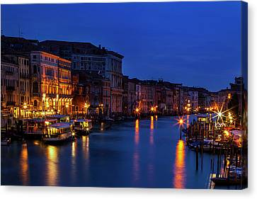 Canvas Print featuring the photograph Venetian Blue by Andrew Soundarajan