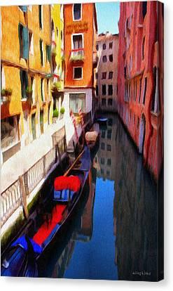 Venetian Canal Canvas Print by Jeffrey Kolker