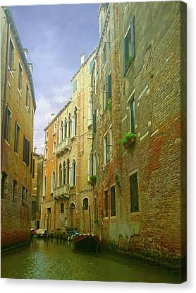 Canvas Print featuring the photograph Venetian Canyon by Anne Kotan