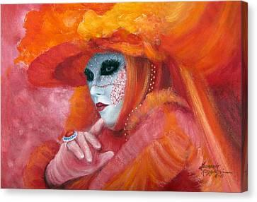 Venetian Flame Canvas Print