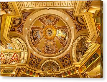 Venetian Hotel Lobby Ceiling Canvas Print by Susan Candelario