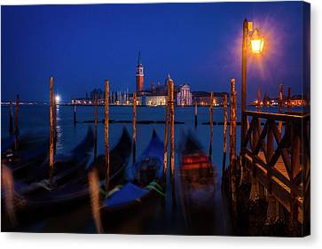 Canvas Print featuring the photograph Venetian Lagoon At Twilight by Andrew Soundarajan