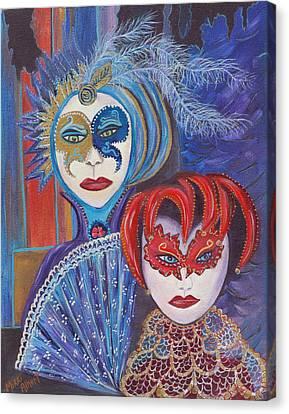 Shakespear Canvas Print - Venetian Masks by Mikki Alhart