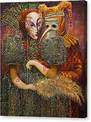 Venetian Masks Canvas Print by Valentina Kondrashova