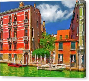 Canvas Print featuring the photograph Venetian Patio by Juan Carlos Ferro Duque