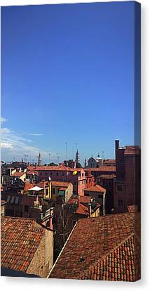 Canvas Print featuring the photograph Venetian Skyline by Anne Kotan