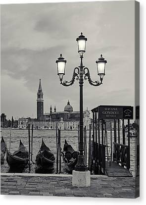 Canvas Print featuring the photograph Venetian Streetlamp by Richard Goodrich