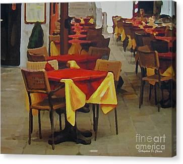 Venetian Tables Canvas Print by Italian Art