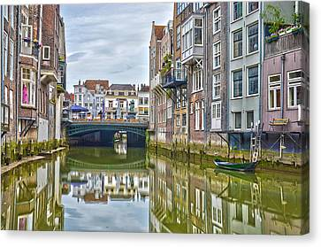 Canvas Print featuring the photograph Venetian Vibe In Dordrecht by Frans Blok
