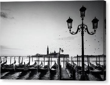 Venetian View Canvas Print by Andrew Soundarajan
