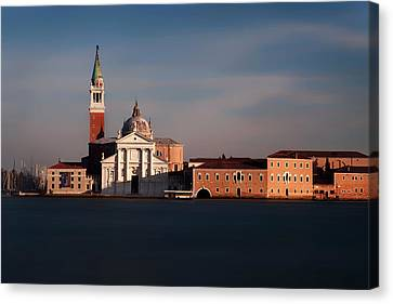 Canvas Print featuring the photograph Venetian View At Dusk by Andrew Soundarajan