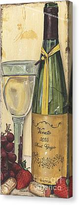 Wine Reflection Art Canvas Print - Veneto Pinot Grigio Panel by Debbie DeWitt