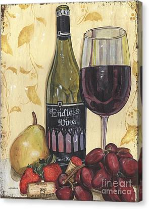 Wine Glasses Canvas Print - Veneto Pinot Noir by Debbie DeWitt