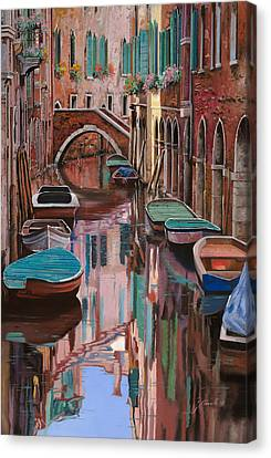 Canal Canvas Print - Venezia A Colori by Guido Borelli