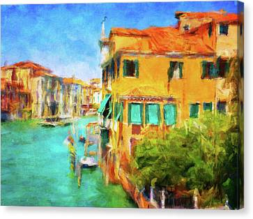 Sienna Italy Canvas Print - Venezia Afternoon by Connie Handscomb
