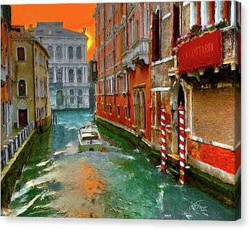 Venezia. Ca'gottardi Canvas Print by Juan Carlos Ferro Duque