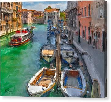 Canvas Print featuring the photograph Venezia. Cannaregio by Juan Carlos Ferro Duque