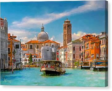 Venezia. Fermata San Marcuola Canvas Print by Juan Carlos Ferro Duque