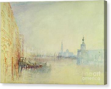 Venice - The Mouth Of The Grand Canal Canvas Print by Joseph Mallord William Turner