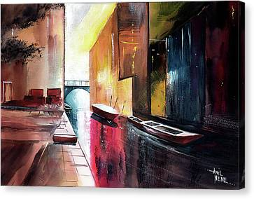 Canvas Print featuring the painting Venice 1 by Anil Nene