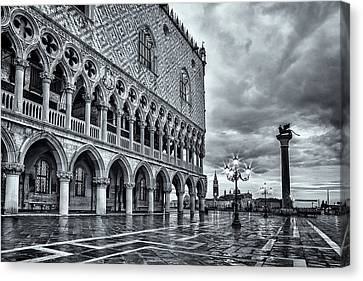 Venice After The Rain Canvas Print by Andrew Soundarajan