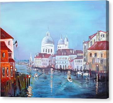 Venice At Dusk Canvas Print