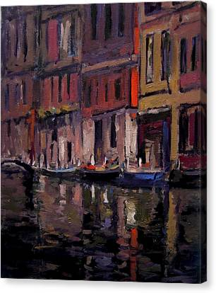 Venice At Dusk Canvas Print by R W Goetting