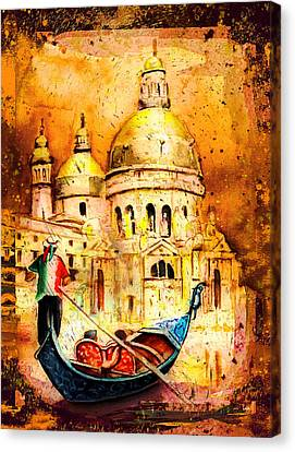 Venice Authentic Madness Canvas Print by Miki De Goodaboom