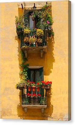 Venice Balcony Canvas Print by Carl Jackson