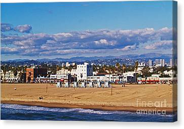 Venice Beach In Fall Canvas Print