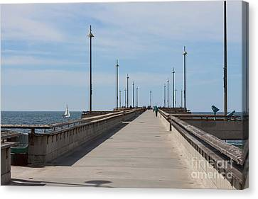 Venice Beach Pier Canvas Print by Ana V Ramirez