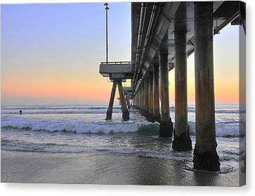 Venice Beach Pier Sunset Canvas Print
