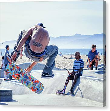 Venice Beach Skater Canvas Print
