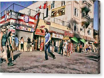 Venice Beach Walk Canvas Print