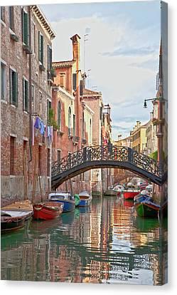 Venice Bridge Crossing 5 Canvas Print by Heiko Koehrer-Wagner