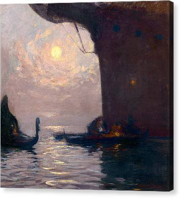 Silver Moonlight Canvas Print - Venice By Moonlight by Gaston La Touche