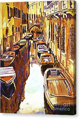 Venice Canal Canvas Print by David Lloyd Glover